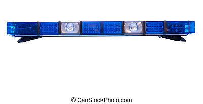 aislado, policía, luz de emergencia, techo, barra
