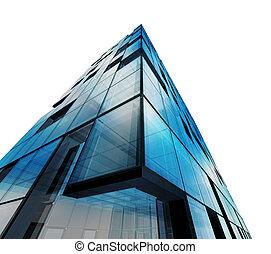 aislado, resumen, blanco, arquitectura