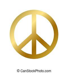 aislado, símbolo, pacifism, signo paz, hippie