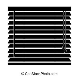 aislado, ventana, vector, plano de fondo, blanco, persianas, icono