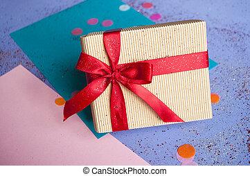 aislado, white., giftbox