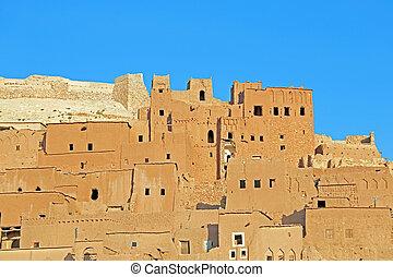 ait benhaddou, marruecos, kasbah, arcilla