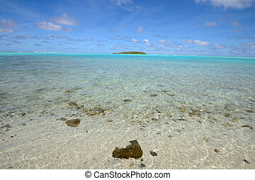 Aitutaki lagoon, One Foot Island