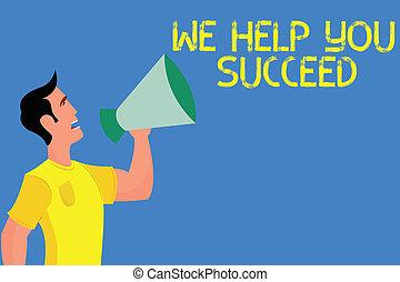 aiutato, noi, concetto, parola, aiuto, affari, testo, sostenuto, funded, scrittura, qualcuno, suo, portata, lei, succeed., fare un sogno