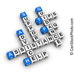 aiuto, e, sostegno