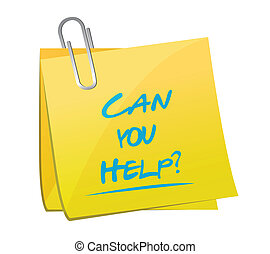 aiuto, promemoria, illustrazione, disegno, lattina, palo,...