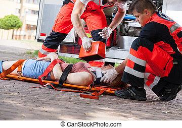aiuto, secondo, primo, incidente