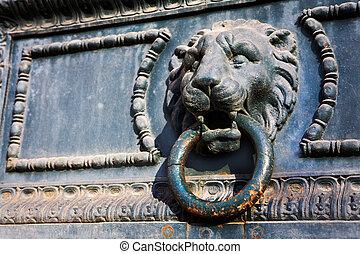 Aix-en-provence #73 - Door knocker in the shape of a Lion
