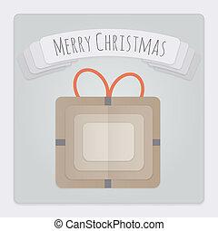 ajándék, karácsonyi üdvözlőlap