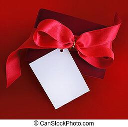 ajándék, noha, piros, borda