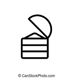ajar chest of gold side view icon vector