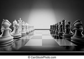 ajedrez, composición