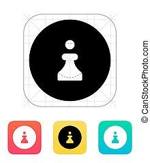 ajedrez, peón, icon.