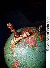 ajedrez, reyes, globo