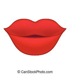 ajkak, illustration., piros