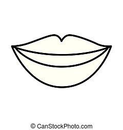 ajkak, nő, érzékiség, ikon