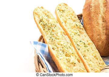 ajo, pan francés
