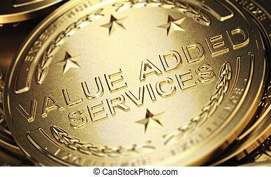 ajouté, valeur, service