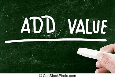 ajouter, valeur