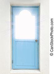 ajtó, csukott