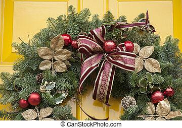 ajtó, karácsony, zátony