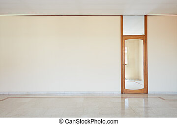 ajtó, szoba, emelet, pohár, márvány, üres