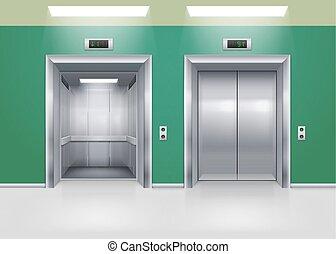 ajtók, felvonó