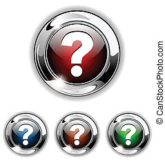 ajuda, ícone, botão, vetorial, illustrat