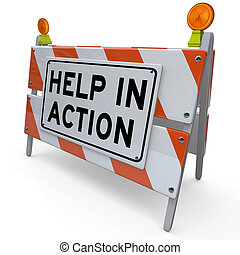 ajuda, barreira, melhoria, projeto, barricada, ação
