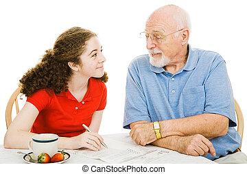 ajuda, de, avô