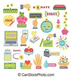Ajuda, jogo, Botões, doação, Doar, ícone