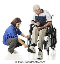ajudar, a, idoso