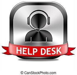 ajude escrivaninha, botão