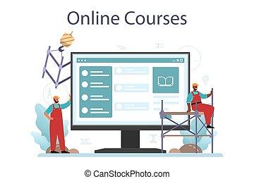 ajustador, construtor, instalador, industrial, platform., serviço, online, ou