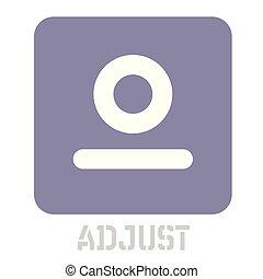 ajustar, conceptual, gráfico, icono