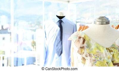 ajustement, mode, robe, concepteur