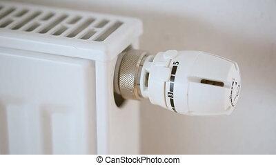 ajustement, radiateur, homme