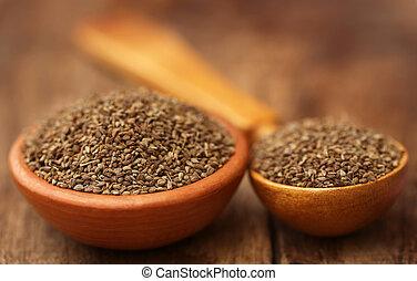ajwain, semillas