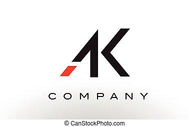 AK Logo.  Letter Design Vector.