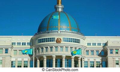Ak-Orda Palace - View of Ak-Orda Presidential palace in...