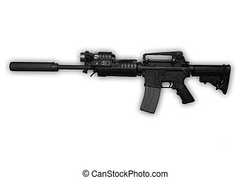 AK47 Assault Rifle - AK47 Police Issue Assault Rifle...