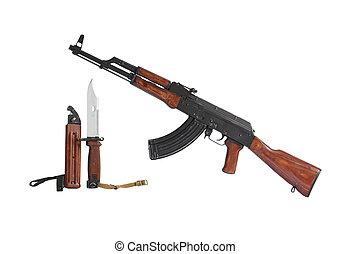 ak47, submachine gevär
