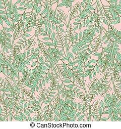 akazie, zärtlich, inflorescences, weißes, seamless, muster, vektor, blumen-, botanik, druck, blumen, abbildung, kunst, prächtig, leaves., deco, blühen, hintergrund., wallpaper., stil, rosa, gewebe