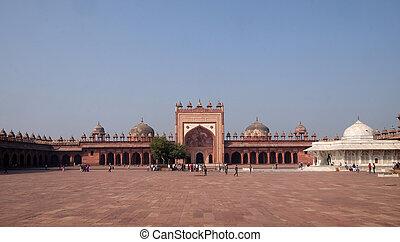 akbar, histórico, pradesh, sikri, mughal, ciudad, fatehpur, ...