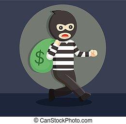 akció, elkapott, tolvaj, beszerez