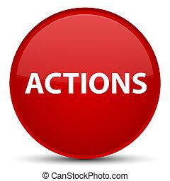 akciók, különleges, piros, kerek, gombol