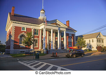 Akeley Memorial Building, Stowe, VT USA - Town hall, the...