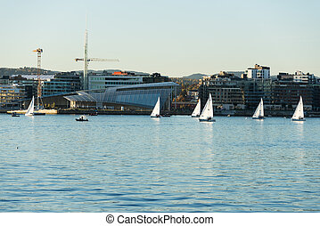 Aker Brygge from Oslo fjord