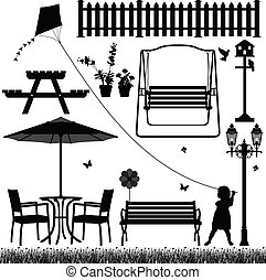 akker, buiten, park, werf, tuin