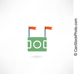akker, de voetbal van de vlag, pictogram